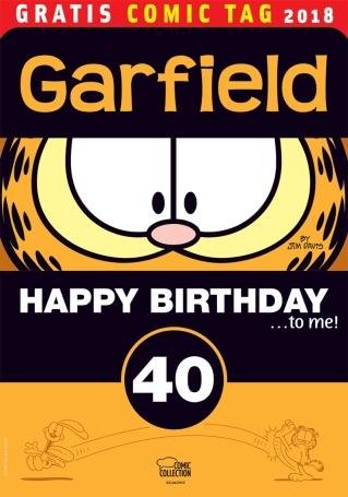 Ein Geburtstag steht bald an im Hause Arbuckle und zwar ein tierischer. 1978 erblickte der fett, faul, filosofische Kater mit dem charakeristisch getigerten Fell und dem noch charakteristischeren Appetit das Licht der Welt. Das feiern wir mit einem Best-of aus 40 Jahren Garfield Comic-Strips.