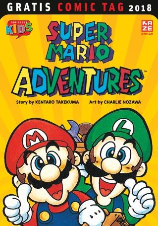 It's me, Mario! Die leidgeplagte Prinzessin Peach wird vom teuflischen Halunken Bowser entführt. Doch die beiden Super-Klempner Mario und Luigi sind zusammen mit ihrem neuen Freund Yoshi bereits auf dem Weg, um die Prinzessin zu retten. Aber können sie den Koopa-König noch rechtzeitig aufhalten, bevor er die Prinzessin zur Heirat zwingt und er das Pilzkönigreich an sich reißen kann? Er ist der berühmteste Klempner der Welt, und seine Abenteuer blieben nicht auf die Pixel der Spielkonsolen beschränkt … Exklusiv für das offizielle Magazin Nintendo Power entstand von Januar 1992 bis Januar 1993 eine Reihe von Comic-Strips. Diese Comics folgten nicht der Storyline eines bestimmten Spieles, vielmehr erzählten sie neue Abenteuer der bekannten Helden – und führten sogar neue Figuren ein. Der Sammelband Super Mario Adventures bündelt erstmals und vollständig auf Deutsch alle Comics aus dem offiziellen Nintendo Power Magazin. Zum Gratis Comic Tag gibt es die ersten drei Kapitel zum Schnuppern.